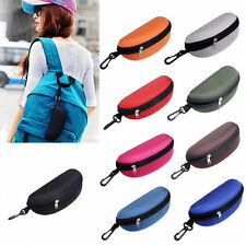 New Unisex Portable Zipper Eye Glasses Sunglasses Clam Shell Hard Case Protector