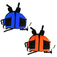 Kayaking Boating Rafting Buoyancy Life Jackets Vest PFD + Pockets Blue/Orange
