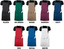 "BIB APRON, REGULAR or OVERSIZE, FRONT & PENCIL POCKETS, 1/2"" X-LONG TUNNEL TIE"