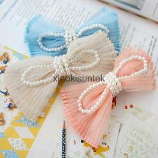Korean Style Women Girls Bowknot Lace Hair Clip Hair Accessories Hairpin 3Colors