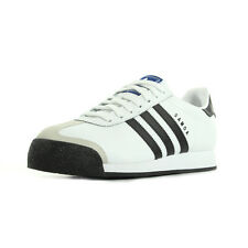 Chaussures Baskets adidas homme Samoa Leather taille Blanc Blanche Cuir Lacets