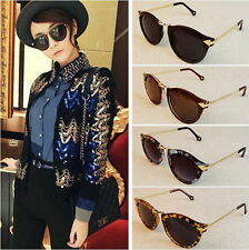 Women's Unisex Sunglasses Arrow Style Eyewear Round Sunglasses Metal Frame URXD