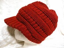 New S-Visor Cable Knit Slouchy Baggy Beanie Oversize Winter Hat Cap Skull Ski