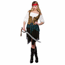 Ladies Caribbean Pirate Girl Lady Wench Hen Night Fancy Dress Party Costume New