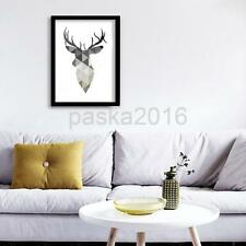 Modern Canvas Wall Hanging Art Painting Picture Christmas Reindeer Decor