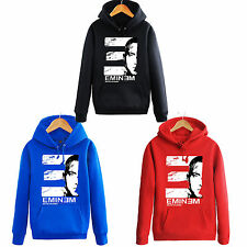 Eminem cosplay Hip Hop Printed Sweater Fleece Hoody Jacket Costume Cosplay