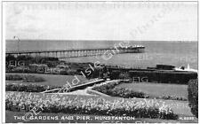 Norfolk Hunstanton The Gardens and Pier Old Photo Print - Size Selectable