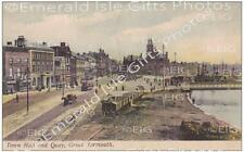 Norfolk Great Yarmouth, Town Hall and Quay Old Photo Print - Size Selectable