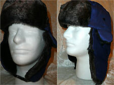 New Men Women Winter Trapper Trooper Earflap Warm Russian Ski Hat Fur Bomber