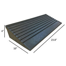 """5 Ton Rubber Curb Ramp - 4"""" Height - End Caps - Portable - Electriduct"""