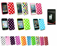 Polka Dots Fitted Gel Case Cover for iPhone 3 4 5 6 / iPod various models
