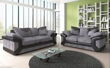 NEW DINO JUMBO CORD BLACK/GREY 3+2 SEATER SOFA | FOAM CUSHION | 1 YEAR WARRANTY