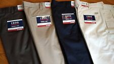 NWT, $70. MSRP, Mens IZOD American Chino Pleated 100% Cotton Wrinkle Free Pants