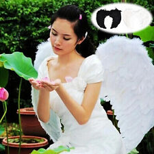 Fashion Feather Wings Angel Fairy Fancy Dress Costume Halloween Party Favor GV