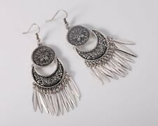 Woman Jewelry Tribal Art ethnic Miao Hmong earrings dangle Large FREE GIFT