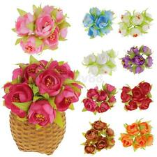 Artificial 72-Head Camellia Stamen Fabric Flower Table Arrangement 9 Colors