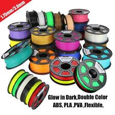 Colorful 3D Printer Filament 1kg 2.2lb 3mm/1.75mm ABS/PLA for MakerBot RepRap