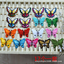 10pcs/set Cartoon Butterfly Embroidered Patch Iron /sew on Clothing Applique