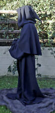 Black Robe for Halloween Grim Reaper/Monk/Larp/Cosplay wool mix Melton