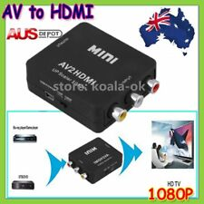 Composite AV CVBS 3RCA to HDMI Video Converter Adapter 1080p Up Scaler AU Stock