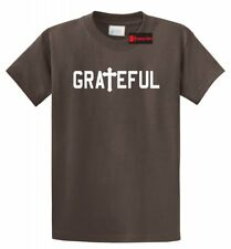 Grateful Religious T Shirt Jesus Cross Christian Tee Religion God Gift Tee Shirt