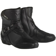 Alpinestars SMX-3 Mens Vented Motorcycle Boots  Black