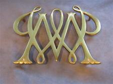 1950 Virginia Metalcrafters WILLIAM & MARY CYPHER Solid Brass Trivet CW 10-11