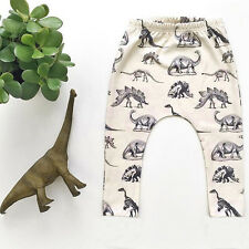 Fashion Toddler Kids Boys Dinosaurs Print Elasticity Pants Lovely Harem Trousers