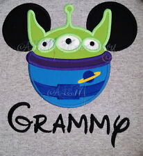 Personalized Toy Story Alien Mousehead Shirt machine embroidered