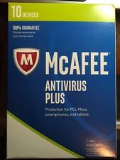 Brand New McAfee Antivirus Plus 2017- 10 Devices 1 YEAR