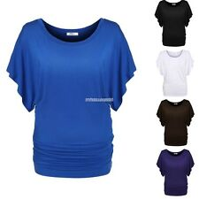 Stylish Women comfty batwing Sleeve Loose T-Shirt Blouse tops Tee hot