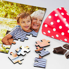 PERSONALISED YOUR Photo on Jigsaw WOODEN PUZZLE Custom Gift Different Sizes Logo