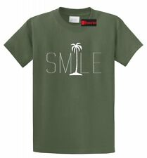 Smile Graphic Tee Palm Tree Beach Bum Beach Happy Ocean Graphic T Shirt