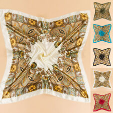 35'' x35'' Scarf Luxury Wrap Bandana Women Satin Square Large Headband Kerchief