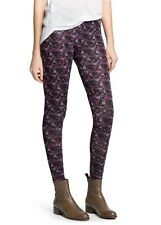 LADIES BLACK FLORAL PRINT LEGGINGS FROM MANGO SIZE SMALL APPROX SIZE 8-10 BNWT
