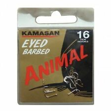 Kamasan Animal Hooks - Eyed - Barbed