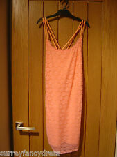 Hollister Peach Lace Lined Dress NEW (Tags) RRP £49 Size M (Ref Z)