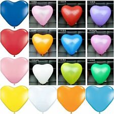 "Latex Heart Shaped Balloons 10"" Inch10-50 Party or Valentine for Helium or Air"