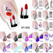 Water Transfer DIY Tips 3D Flower Design Manicure Nail Art Stickers Decals Decor