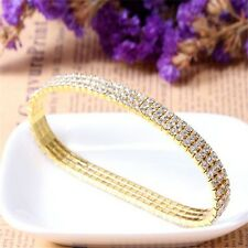 Bright Prom Bridal Costume Zircon Party Trendy Stretch Crystal Anklet Bracelet