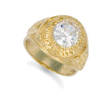 Jewelco London 9ct Gold CZ Solitaire Oval University College Ring