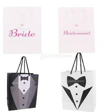 Tuxedo Pattern Paper Pouch Bride Groom Gift Favour Bag w/ Handle Packing Bag