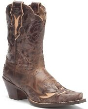 Ariat Women's Dahlia Pull On Cowboy Western Boots Silly Brown/Chocolate 10008780