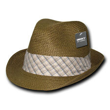 Breathable Lightweight Paper Braid Woven Summer Fedora Hat