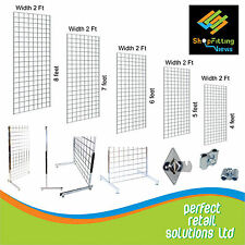 GRID WALL/ GRIDWALL PANEL  MESH CHROME DISPLAY PANEL RETAIL SHOP