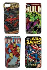 Genuine Marvel Comics Print iPhone 5 / 5s Cover Case Boxed Hulk Spiderman Iron