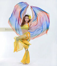 Colourful Belly Dance Costume Silk-like Veil Shawl Scarf 18 Colours