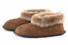 Ladies Genuine Sheepskin Slippers , 100% Leather ! Home Shoes , Boots , Warm