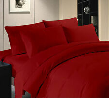 1000TC 100% Egyptian Cotton Fresh Bedding Sets Burgundy Solid All US Size