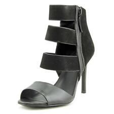 Charles David Itano Women  Open-Toe Suede Black Heels